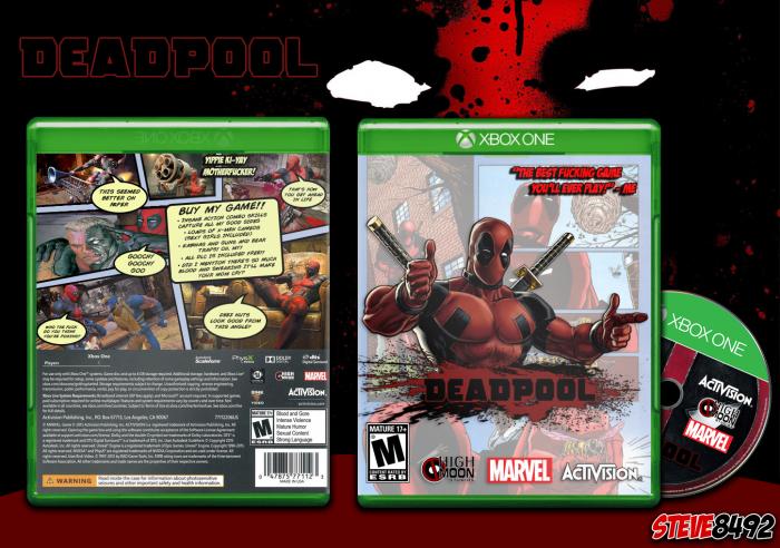 Xbox One Box Art Deadpool Xbox One Box ...