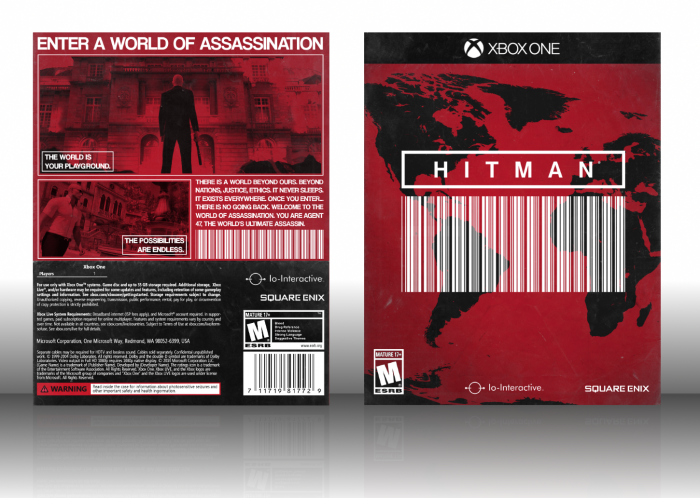 Hitman Xbox One Box Art Cover By Twistedtinkertoy