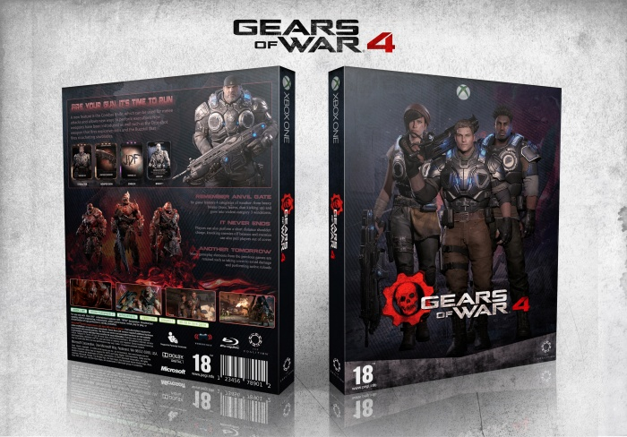 Gears of War 4 box art cover