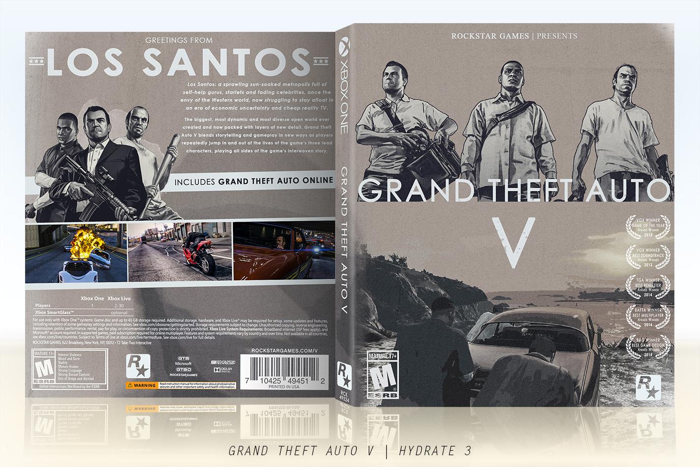 Viewing full size grand theft auto 5 box cover for 2 5 box auto