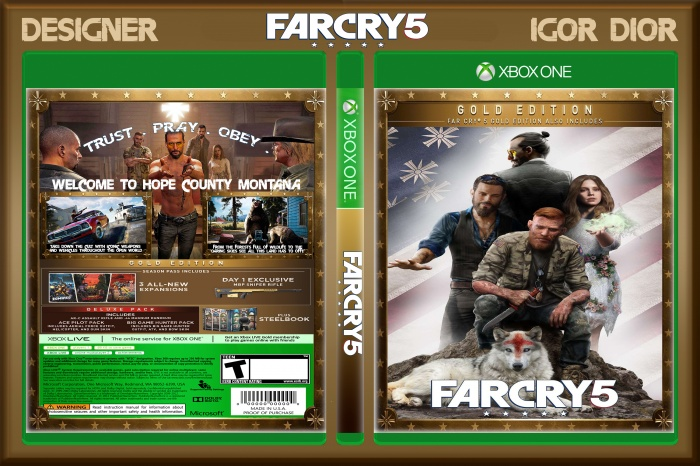 Far Cry 5 Xbox One Box Art Cover By Wolfenstein The Old