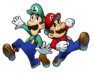 Mario Luigi Superstar Saga Render