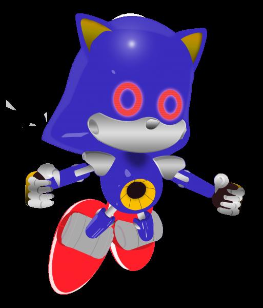 Paper Metal Sonic Render