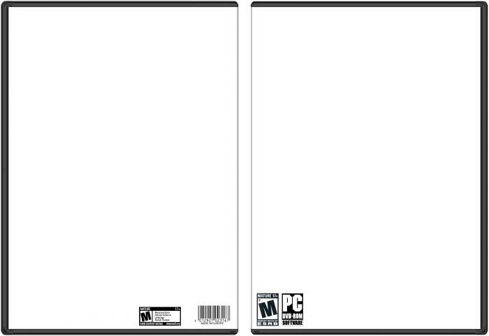 Pc template for Video game cover template